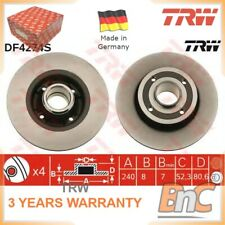 2x REAR BRAKE DISC SET RENAULT FOR NISSAN TRW OEM 7701207823 DF4274S HEAVY DUTY