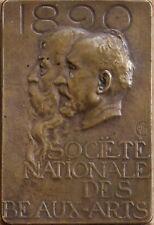 ALEXANDRE CHARPENTIER (1856-1909) SIGNED 1890 ORIGINAL BRONZE PARIS SALON MEDAL