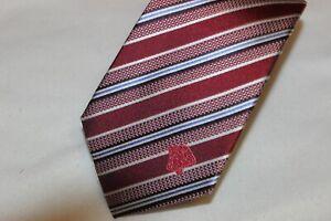 Versace Men's Made in Italy Pink Design Medusa 100% Silk Tie Brand New $120