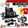 "8IN1 15""x15"" Combo T-Shirt Heat Press Transfer Mug Plate Machine Multifunctional"