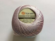 Pale Orchid YarnArt Tulip Size 10 Microfiber Thread 17325 50g 273y Crochet