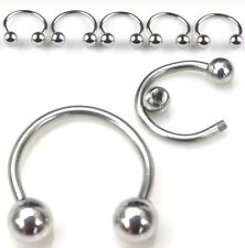 Surgical Stainless Steel Earring Set Ball Hoop Pierce Fashion Style Gift 1mm 18g