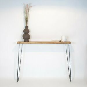 Console Table / Radiator Hallway Table Reclaimed Rustic Wood [With Hairpin Legs]