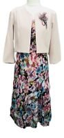 Womens Ladies Floral Dress With Bolero/Jacket For Wedding Church Parties Events