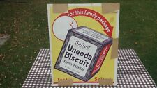 1920's 1930's Uneeda Biscuit Cardboard Poster Sign Grocery Store Mercantile