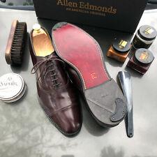 Allen Edmonds Park Avenue 11 D Burgundy Cap-Toe Oxfords Custom burnishing+more