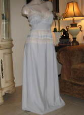 TTO65 - Vintage 1930's-1940's RADCLIFFE Nightgown - MEDIUM - Dusty Blue Gown MED