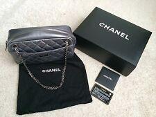 Chanel Reissue Dark Silver Metallic Camera Bag Medium With Ruthenium Hardware
