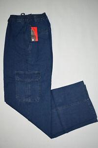 Herren Cargo-jeans Stretchjeans Schlupfhose Blau...Größe M,L,XL,XXL,3XL,4XL,5XL