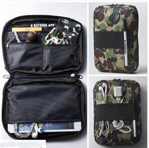 A BATHING APE BAPE Camo Handbag Green Travel Purse Storage Pack Credentials Bag