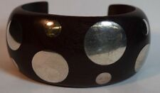 Style Wood Cuff Bracelet Mexican Silver and Spratling