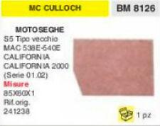 241238 FILTRO ARIA MOTOSEGA McCULLOCH S5 MAC CALIFORNIA 86x60x1