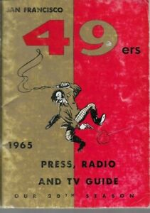 1965 SAN FRANCISCO 49ERS media guide JOHN BRODIE, VERY GOOD, ORIGINAL