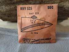 Suc Mans Rmy 525 Plastic Rocket Cylinder Watch Crystal Nos Fit Rite
