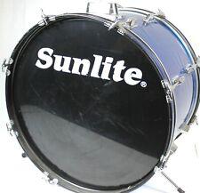 "Sunlite 22"" x 14"" Bass Kick Drum (Taiwan) - Blue - used- R5692"
