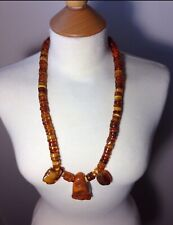Museum Quality Rare Antique Yellow Egg Yolk Baltic Amber Necklace Collectible