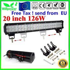 20 inch 126W LED WORK LIGHT BAR FLOOD&SPOT COMBO OFFROAD SUV 4WD Trabajo Lámpara