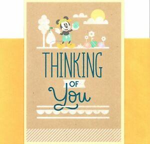 Walt Disney Happy Easter Mickey Mouse Decorating Cheerful Eggs Hallmark Card