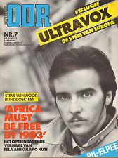 MAGAZINE OOR 1981 nr. 07 - TOM WAITS/NASMAK/DOE MAAR/FELA KUTI/ULTRAVOX