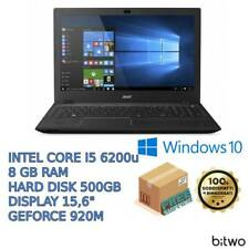 "COMPUTER PORTATILE NOTEBOOK ACER 15,6"" I5 RAM 8GB HDD 500GB WEBCAM WINDOWS 10"