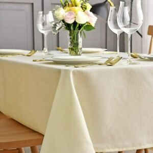 maxmill Jacquard Tablecloth Swirl Design Water Resistance Antiwrinkle Oil Proof