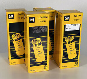 Caterpillar CAT 1R-0749 Spin-On Fuel Filter 4 Pack FREE USA SHIPPING