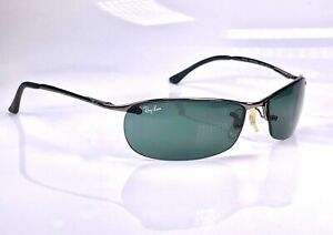 Authentic Ray Ban Top Bar Semi Rimless Predator RB3186 004/71 Wrap Sunglasses