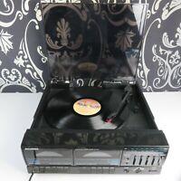 Vintage Sylvania SY1201 Stereo cassette deck AM/FM Turntable & speaker for parts