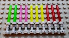 LEGO MINIFIG PERSONNAGE FIGURINE STAR WARS : 10 SABRES LASER JEDI NEUFS