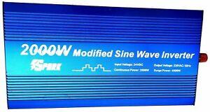 Spark 2000W (4000W Peak) DC 24V AC 240V POWER INVERTER Truck Lorry Microwave