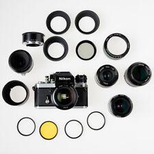 Analoge SLR camera Nikon F2A Photomic DP-11- diverse objectieven en accessoires