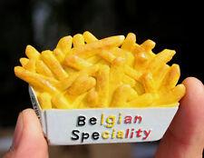 TOURIST SOUVENIR 3D FRIDGE MAGNET --- Belgian Speciality French fries , Belgium