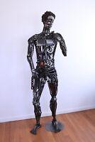 Metal Sculpture Statue Of David,  Industrial Steampunk, Junk, Vivonaart.com