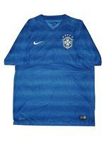 Nike Dri-Fit Brazil CBF Blue Short Sleeve Soccer Athletic Shirt, Men's Size L