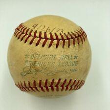 Milwaukee County Stadium Game Used American League Baseball From 9-26-1973