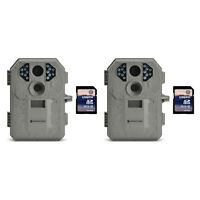 Stealth Cam P12 6MP Scouting Game Trail Camera, 2 Pack + 8GB SD Card, 2 Pack