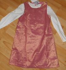 tolles Kleid Gr 122  festlich lurex +++ ansehen bitte