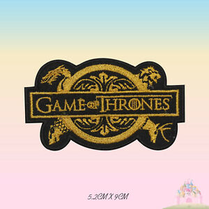 Game of Thrones Embroidered Iron On Patch Sew On Badge Applique