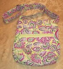 Womens QUILTED CROSSBODY BAG~NEW Small PURSE Pocketbook FLORAL Pink Lime Green