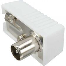 Set Koaxialwinkelstecker / Winkelkupplung schraubbar für Antennenkabel 90Grad
