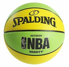 Spalding NBA Varsity Neon Outdoor Basketball - Green/Yellow - Official Size 7