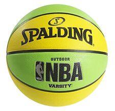 Spalding NBA Varsity Neon Outdoor Basketball - Green/Yellow - Official Size 7