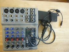 Peavy PV6 USB Equipped 6-Channel Mixer With Power Supply Unit PSU NO BOX/MANUAL