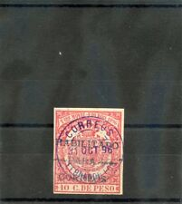 FERNANDO PO Sc 40(SG 32c)*VF USED 1896 10c ROSE RED, VIOLET OVERPRINT $110
