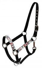 Showman BLACK Nylon Horse Halter w/ Multi Colored Navajo Print Overlay! NEW TACK