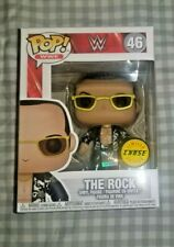 Funko Pop Wwe The Rock Chase rare with protector