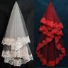 1.5-3M Long Short Wedding Veils White Bridal Veil Red Veil Bridal Accessories