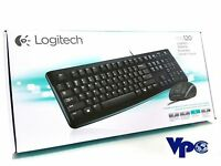 New Logitech MK120 Keyboard & Mouse - 1000 dpi - Scroll Wheel - wired