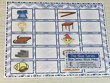 The Blue Series - Vowel E WorkMats (20 cards-2 Laminated WorkMats) Montessori