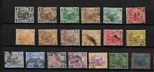 Federated Malay States, 1922 Tigers Mult Script CA used selection to $1 (M709)